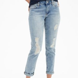 GAP Factory Mid Rise Destructed Sexy BF Fit Jeans